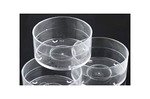 50 X vide en polycarbonate transparent photophores... 18 mm empilable... (38 mm X 18 mm)