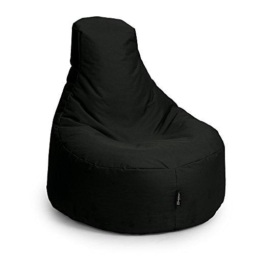 BuBiBag Gamer Kissen Lounge Sitzsack Sessel original Sitzkissen In & Outdoor geeignet fertig befüllt in 31 Farben (gelb)