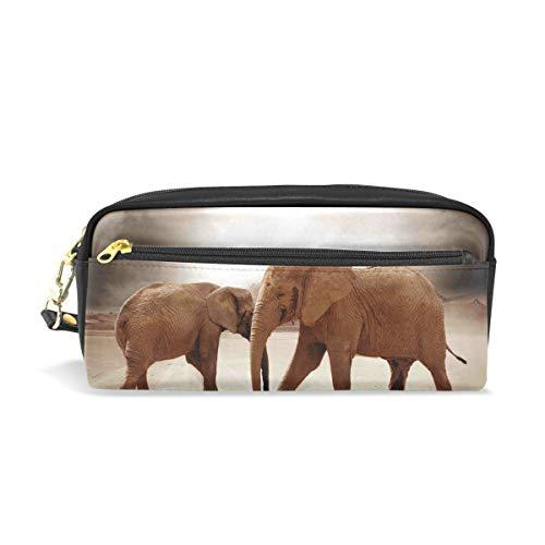 Mnsruu - Estuche de piel sintética con diseño de elefante salvaje para...