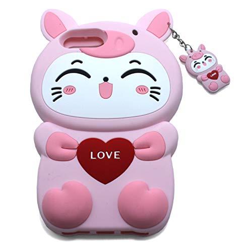 Xzihao Schutzhülle für iPhone Cartoon-Design, niedliche Tiere, Schwarze Katze, strapazierfähig, weiches Silikon, iPhone 6 Plus/6s Plus/7 Plus/8 Plus, 2