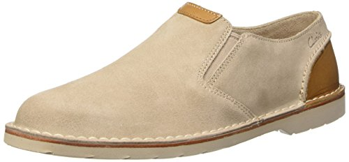 Clarks Hinton Easy Slip On da Uomo, beige (sand suede), 40