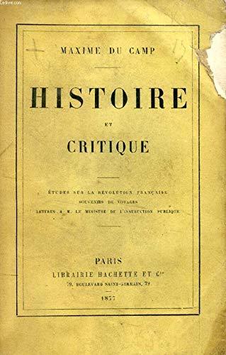 Histoire et critique