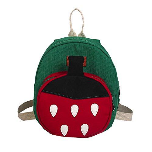 ZODOF Lindo Bolso de Hombro de Fresa para niños Bolsa de Escuela para niños con Mochila de Fruta Strawberry Fruit para niños y niñas