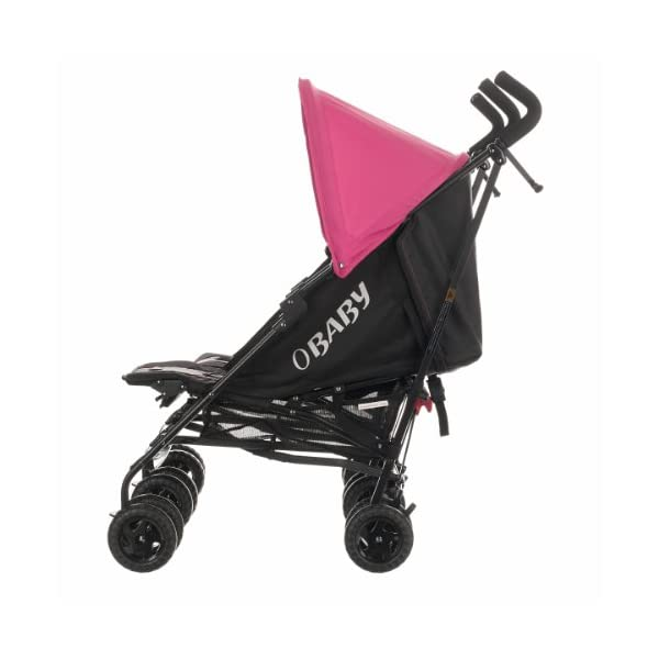 Obaby Apollo Black & Grey Twin Stroller (Pink) Obaby Suitable from birth to a maximum weight of 15kg Independently adjustable multi position seat units Independently adjustable hoods 4