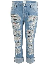 Hudson Boyfriend Jeans CROP DAX blue used
