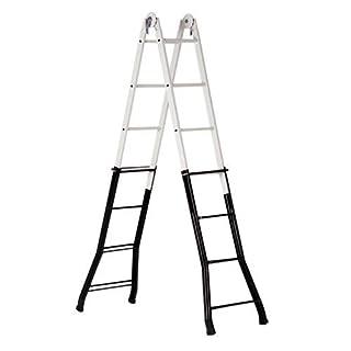 Altipesa Telescopic Ladder 4+4 Rungs - Steel/Aluminium