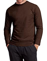 Hanes - T-shirt en coton Heavy-T - col rond/manches longues - homme
