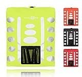 Regenschutz Rucksack (gelb, 15-35L) Rucksack Überzug mit reflektierenden Elementen und Extra-Tasche - Wasserdichtes Regen Cover für viele Rucksack Größen (15L, 25L, 35L) Unisex Rucksackschutz Fahrrad Tasche