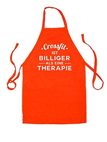 Dressdown Crossfit ist billiger als eine Therapie - Unisex Schürzen Passend Für Erwachsene - Orange - Eine Größe (Schürze Crossfit)