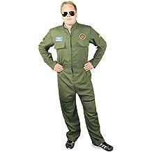 Foxxeo 40249 I sexy Jetpiloten Kostüm für Herren | Größe S, M, L, XL, XXL | Fliegeranzug Männer Luftwaffe Bundeswehr Soldat Soldaten Jetpilot Kostüm Piloten Anzug Pilot Flieger Pilotenoverall