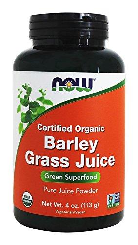 NOW Foods - polvere succo d'orzo erba certificata biologica - 4 oz.
