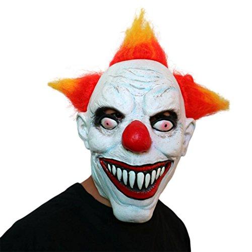 Kostüme Bekam (bobo4818 Bloody Zombie Maske Melting Face Adult Halloween Maske (E)Stephen King's)