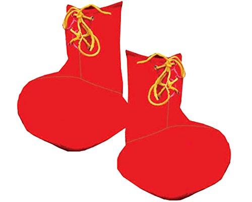 Dress up America Cubiertas del zapato del payaso rojo de los niños