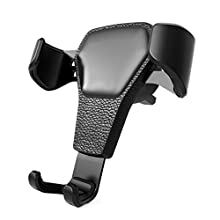 QEUhang Gravity Car Phone Holder - Air Vent Phone Mount Stand Cradle Compatible with iPhone Samsung and other Smartphones
