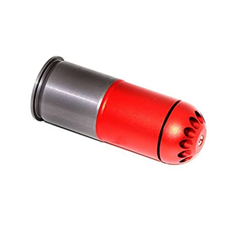 Airsoft Gear Parts Accessories SHS 120rd 40mm Grenade Gas Cartridge Shell Red/Grey