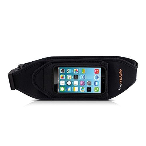 kwmobile Sport Jogging Gürtel für Smartphones mit Schlüsselfach in Schwarz - z.B. geeignet für Samsung, Apple, Wiko, Huawei, LG, Sony, HTC, OnePlus, ZTE, Microsoft, Nokia, BlackBerry, Motorola