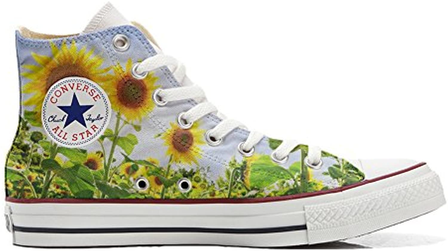 Schuhe Converse All Star Custom  Personalisierte Schuhe (Handwerk Produkt Customized) Girasole