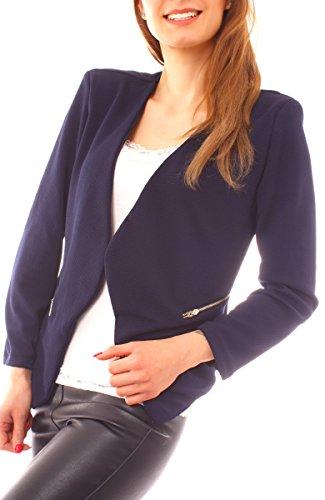Easy Young Fashion Damen Kurzblazer One Size Marine