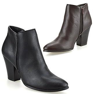 Nine West Womens Mid Block Heel Zip Up Cowboy Biker Chelsea Ankle Boots Shoes