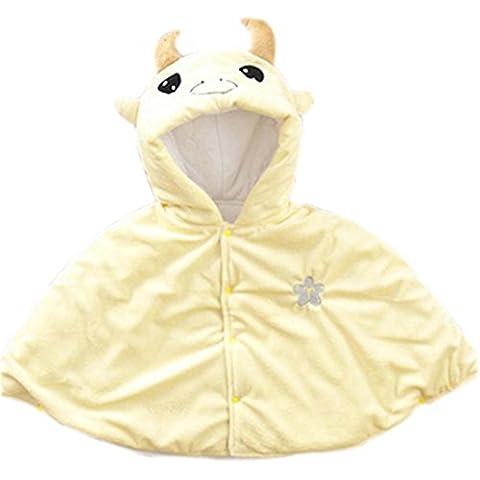 bebé Cloak Mantón Baby Blankets doce constelaciones bebé Cloak Taurus amarillo