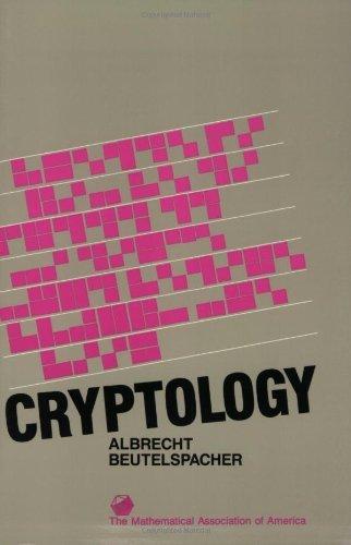 Portada del libro Cryptology (Spectrum) by Albrecht Beutelspacher (1994-04-30)