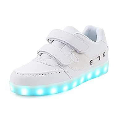 LJ Sport, Sneaker bambine (EU 28, Bianco)