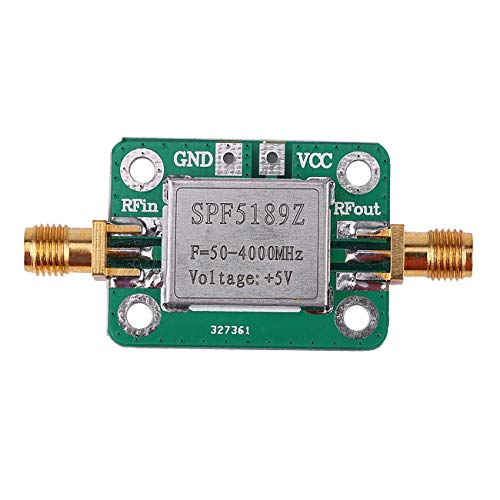 Elviray Hochwertiger rauscharmer LNA 50-4000 MHz HF-Verstärker-Signalempfänger SPF5189 NF = 0,6 dB INM Hf-combiner