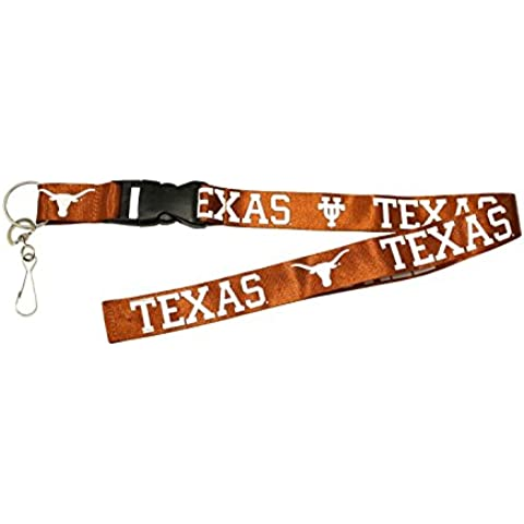 UNIVERSITY OF TEXAS LONGHORNS BURNT ORANGE BREAKAWAY LANYARD ( Football, Basketball, Softball, Baseball,NCAA) by Capcom