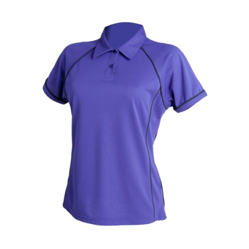 Finden & Hales - Polo -  Femme - Purple/ Navy