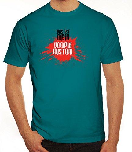 Diva Kostüm Dracula - ShirtStreet Fasching Karneval Herren T-Shirt mit Das ist Mein Vampir Kostüm 2 Motiv, Größe: XXL,Diva