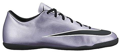 Nike Herren Mercurial Victory V IC Fußballschuhe, Silber (Silber/Schwarz), 45.5 EU