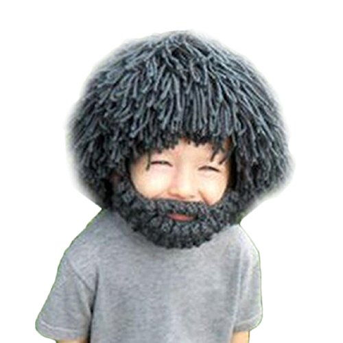 Malloom® Beard Wig Hats Handmade Knit Warm Winter Caps Men Women Kid