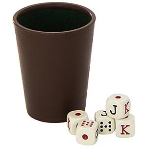 Cayro – Cubilete Forrado y 5 Dados de Poker (072/1)