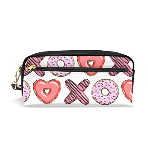 rzförmige Donuts - Valentines Red And Pink_124 Kosmetiktaschen Federmäppchen Portable Travel Makeup Organizer Multifunktions-Tasche Taschen für Frauen ()
