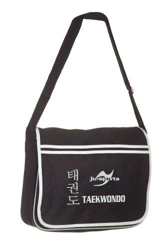 Retro Messenger Bag schwarz Taekwondo