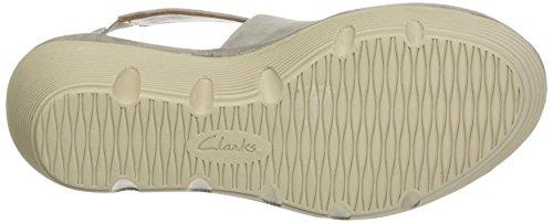 Clarks Clarene Glamor, Sandales Bout Ouvert Femme Gris (Sage Nubuck)