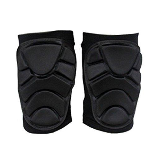 tykusm Weiche Knieschoner Kneepad Skifahren Snowboarden Sports Knieschützer Unterstützung (schwarz)