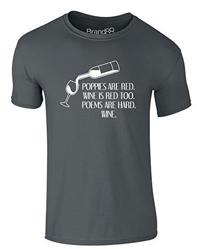 Brand88 - I Live For Yaoi Fanservice, Erwachsene Gedrucktes T-Shirt Dunkelgrau/Weiß