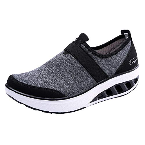 Innerternet Women Shoes Wedge Sneakers 2018 New Casual Shoes Increased Thick-Soled Rocking Indoor Outdoor Shoes Sandals