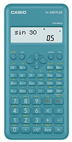 Casio fx-220plus-2 Calculatrice scientifique, bleu
