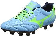 MIZUNO P1GA172428 Monarcida Neo Men's Football Shoes, Norse Blue/Neon G