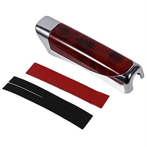 Outbit Handbremsendeckel - 1 PC Auto-Handbremsschutz-Dekorationsüberzug (rotes Holz und Schwarze Kohlefaser) (Farbe : Red Wooden)