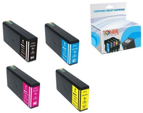 toner-clinic-tc-t676xl-4pk-1-black-1-cyan-1-magenta-1-yellow-remanufactured-inkjet-cartridge-for-eps