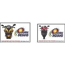 Just rider IPL Cricket Team Sticker for car,Bike & scooty ! (Mumbai Indians)