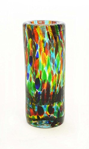 set-of-4-confetti-staight-shooters-2-ounces-handmade-with-recycled-glass-by-laredo-import