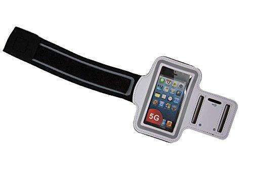 Preisvergleich Produktbild Sport-Armband Hülle iPhone 5/5S/5C/iPod Touch 5 Neopren Deluxe, Armband Armbandtasche, Sport und Freizeit, weiß