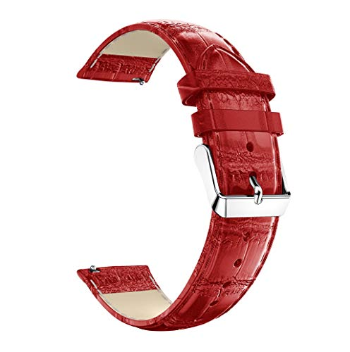 Battnot Uhrenarmbänder für Samsung Galaxy Watch Active Leder Uhrenarmband Handgelenksriemen für Damen Herren Einstellbar Ersatzband Adjustable Watch Band Replacement Wriststraps 20mm 200mm