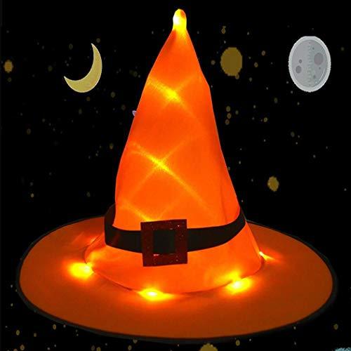 Kostüm Mit Led - kaimus Halloween Hexenhut mit LED Licht