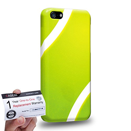 Case88 [Apple iPhone 5C] 3D Hülle / Schutzhülle & Garantiekarte - Art Sports Tennis Ball -