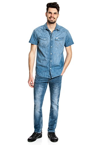 MUSTANG Herren Tapered Jeanshose Oregon 3116-5455 Authentic Used